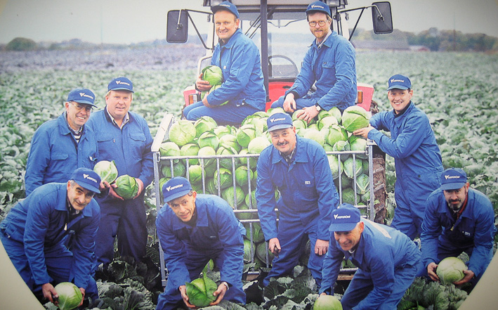 Västgrönts vitkålsodlare samlade anno 1990.